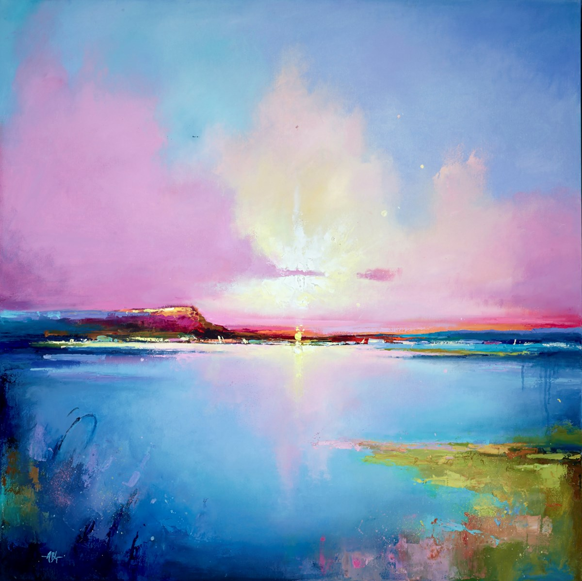 The End of the Day III by anna gammans -  sized 39x39 inches. Available from Whitewall Galleries